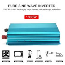 цена на Pure Sine Wave Inverter DC12V To AC220V 1000W Car Inverter Aluminum Alloy Housing High Conversion Efficiency Transformer