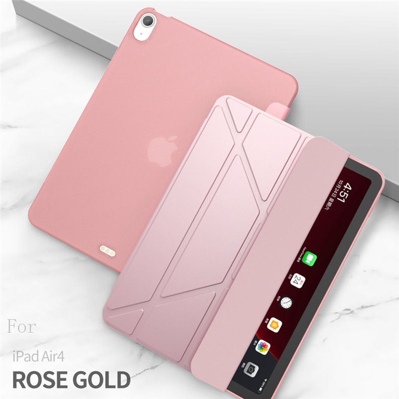 rose gold Rose Red Case For iPad Air 4 Case 2020 ipad Air 10 9 inch Funda Smart Stand Cover