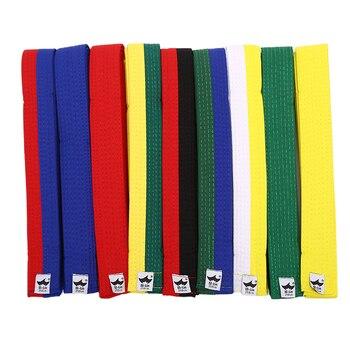 POLIÉSTER + EVA aleatoriamente kárate yudo Martial Taekwondo cinturón negro, rojo, verde, amarillo, Etc. Para adultos, cinturones infantiles 250cm * 4cm