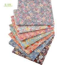 Chainho,7 Pcs/Lot,Floral Printed Patchwork Cloth,Plain Cotton Fabric, DIY Sewing &Quilting Poplin Material For Baby&Child,PCC086