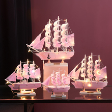 European Wooden Boat Decoration Sailing Model Decoration Crafts Living Room Creative Furnishing Smooth Birthday Gift 10pcs lot 5x5cm home furnishing embossed decoration european style wooden furniture decals