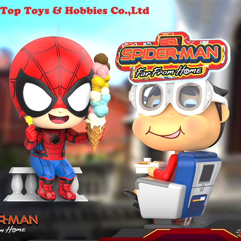 Hot Toys COSBABY Marvel Spider-Man  Mini PVC Figure Iron Spider-Man Toys COSB624
