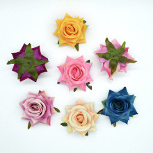 50 Pieces Artificial flowers Flannel rose Home decoration accessories Diy Wedding Scrapbooking Candy