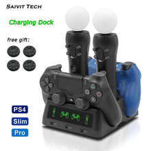 Newest PS4 PS Move VR PSVR Joystick Gamepad Charger Stand Controller Charging Dock for PS VR Move PS 4 Games Accessories