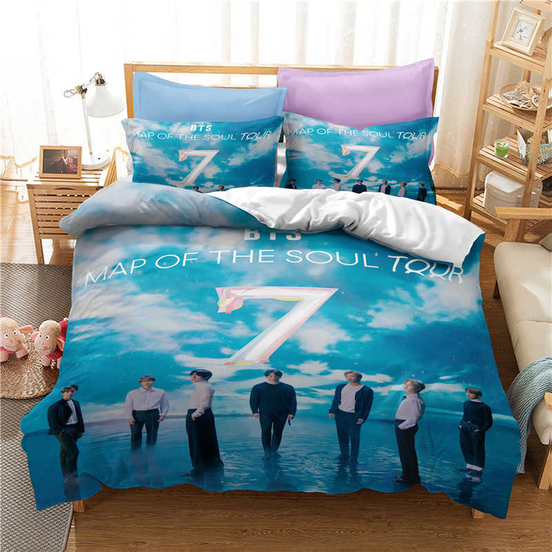 3D Luxe Beddengoed Set Custom/Koning/Europa/Usa, Dekbedovertrek Set, quilt/Deken Cover Set,Bed Set Bangtan Jongens Gedrukt, Drop Shipping