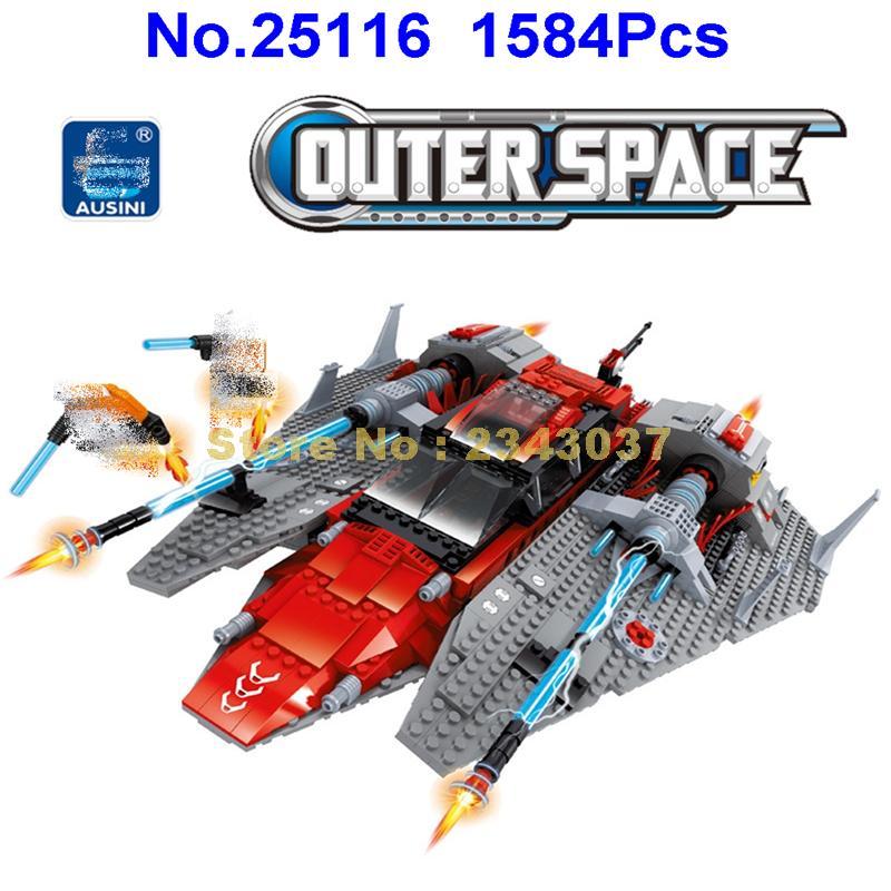 Ausini 25116 1584 sztuk gwiazda przestrzeni kosmicznej wysłać w przemyśle lotniczym budynku zabawki z klocków w Klocki od Zabawki i hobby na  Grupa 1