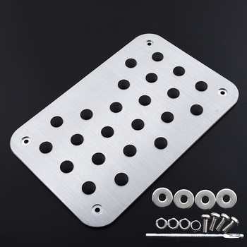 Universal Car Floor Mat Carpet Universal Aluminum Alloy Thick Heel Plate Pedal Silver High Quality Carpet Plate Accessories image