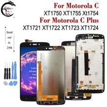 LCD עם מסגרת למוטורולה Moto C XT1750 XT1755 Xt1754 תצוגת C בתוספת XT1721 XT1722 XT1723 XT1724 LCD מסך מגע digitizer
