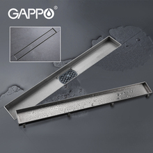 Shower Drain GAPPO Bathroom Linear 304-Stainless-Steel Long Floor for Hotel