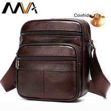 MVA men's bag genuine leather casual male men's