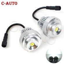 2 sztuk oczy anioła do reflektorów samochodowych obrysówki LED światła dla BMW serii 5 E60 E61 LCI halogenowe lampa pierścieniowa reflektor samochodowy samochód stylizacji
