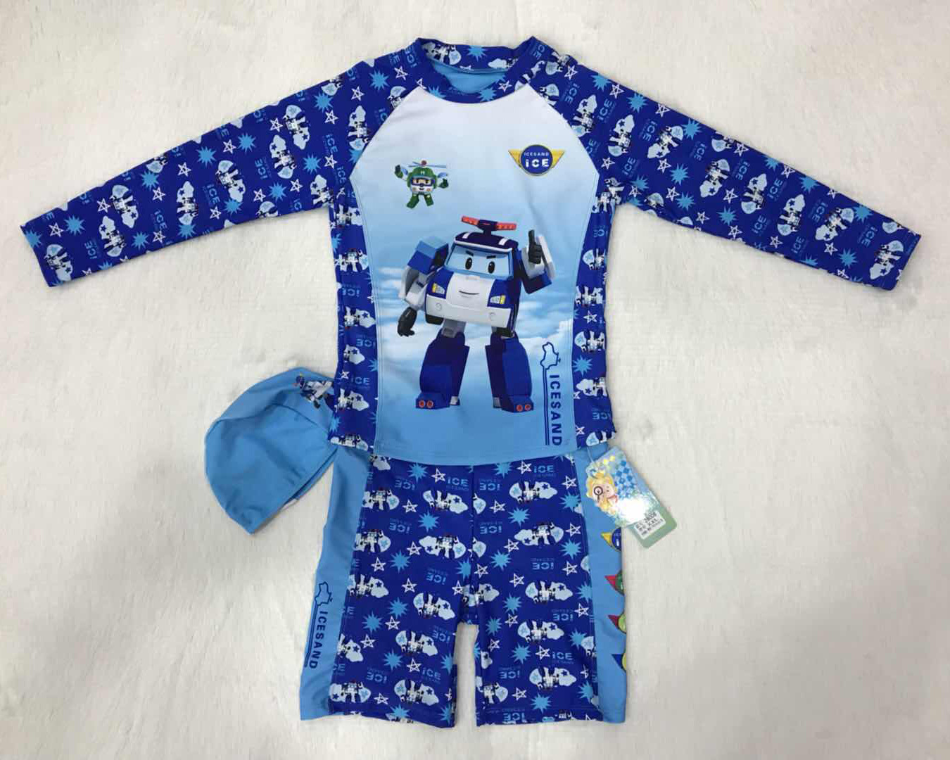 Sorbet BOY'S Swimsuit Swimming Trunks Swimming Cap-Style New Style Autobots Cartoon BOY'S Swimming Suit