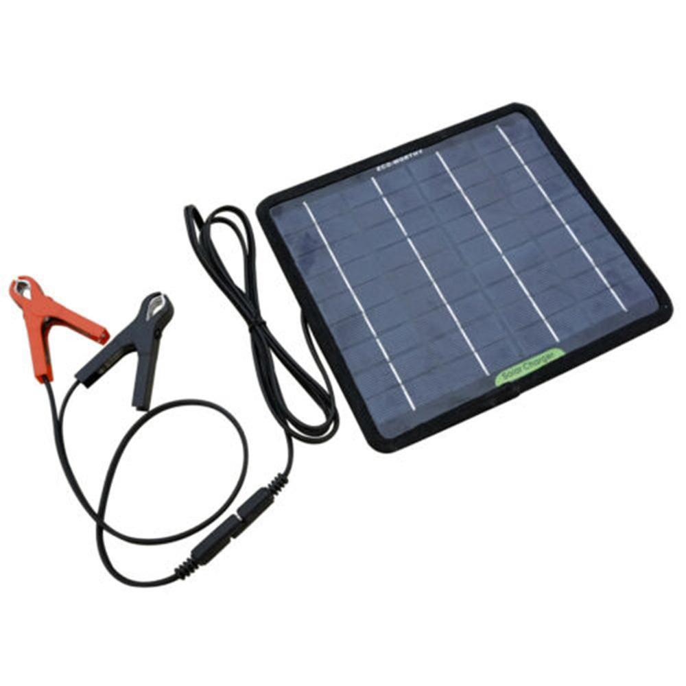 Portable 25W 12V Solar Panel Double USB Power Bank Board External <font><b>Battery</b></font> Charging Solar Cell Board Crocodile Clips <font><b>Car</b></font> <font><b>charger</b></font> image