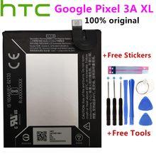Batterie de remplacement 100% mAh/14.24wh, pour téléphone HTC Google Pixel 3A XL, avec outils et autocollants, 3700 original