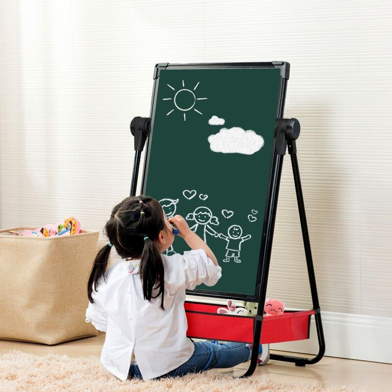 Children Graffiti Drawing Board Portable Double-Sided Black And White Version Of The Practice Doing Homework Sketch Dust-Free Yo