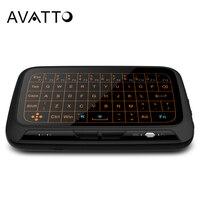 [Avatto] teclado sem fio retroiluminado completo grande do touchpad mini  rato do ar do jogo de 2.4 ghz com a almofada do toque para a tevê esperta  caixa da tevê  computador portátil
