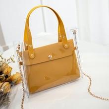 PVC Handbag Messenger-Bag Crossbody-Bags Transparent Fashion Women Female Black for Mini