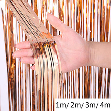 4m Wedding Backdrop Stand PhotoBooth Kids Birthday Party Decorations Mariage Glossy Mirror Foil Fringe Curtain Baby Shower Drape