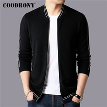 COODRONY Brand Sweater Men Streetwear Fashion Coat Autumn Winter Thick Warm Knitted Cashmere Wool Cardigan 91103
