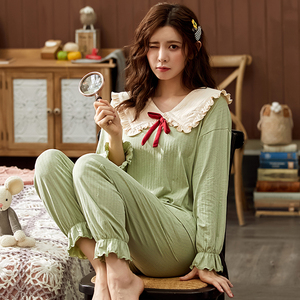 Image 4 - Bzel綿チェックパジャマ女性のファッションパジャマセットかわいいピンクpijamasラウンドネックファムパジャマプラスサイズナイトウェアM XXXL