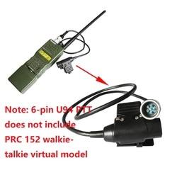 U94 PTT 6 pin wojskowy walkie-talkieTactical adapter słuchawkowy dla AN / PRC 152 PRC 148 PTT