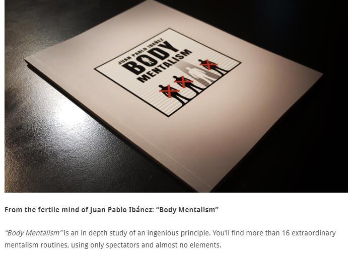 Body Mentalism By Juan Pablo Ibanez-Magic Tricks  Online Instruction