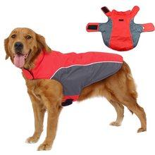 Ветрозащитная водонепроницаемая куртка для больших собак зимняя