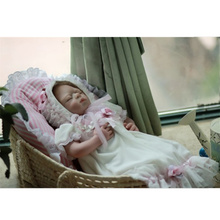цена на Princess Toddler Dolls Soft Silicone Reborn Boncas Sleeping Reborn Baby Doll Kids Playmate Xmas Gifts Christmas Surprice Juguete