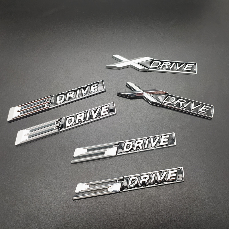 Car Accessories 3D Chrome Metal XDRIVE X <font><b>DRIVE</b></font> <font><b>Emblem</b></font> Logo Sticker Badge Decal Car Styling For <font><b>BMW</b></font> X1 X3 X6 E36 E90 F10 F30 e46 image