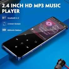 MP4 плеер bluetooth mp3 mp4 музыкальный плеер Портативный mp 4 медиа Тонкий 2,4 дюймов сенсорные клавиши fm Радио Видео Hifi mp5 16 Гб