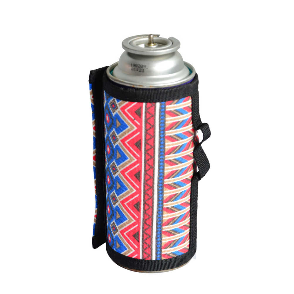 6.5x9.9cm Gas Canister Cover Protector Storage Bag for Camping Light Camo UK