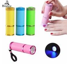 Biutee tırnak kurutucu Mini LED el feneri UV lamba için taşınabilir tırnak jeli hızlı kurutma kür 4 renk seçin tırnak jeli kür manikür aracı