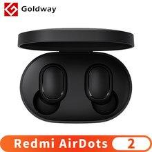 Xiaomi Redmi AirDots 2 Wireless Bluetooth 5,0 Lade Kopfhörer Mi Ture Drahtlose Ohrhörer In-Ohr stereo bass Kopfhörer AI control