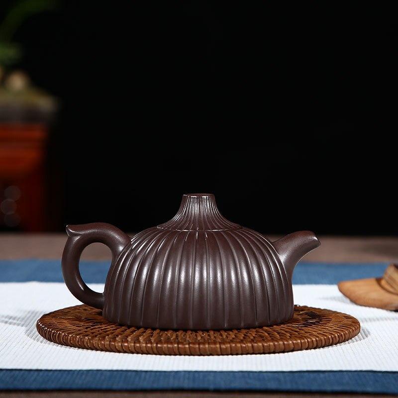 China Yixing Paarse Klei Thee Pot Expert Pure Handgemaakte Theepot Ruwe Erts Oude Paarse Klei Modder Thee Maker Theewaar Rood steengoed