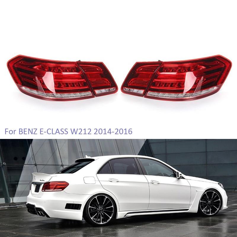 YTCLIN LED Tail Lights for Mercedes-Benz E-Class W212 E350 E300 E250 E63 2014-2016 Sedan Stoplight Brake Lamp Car Light Assembly