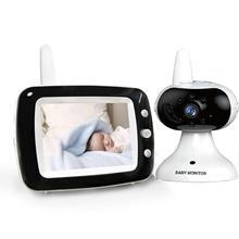 """3.5 """"tela lcd de vídeo digital monitor do bebê 2 vias conversa segurança sem fio câmera do bebê visão noturna eletrônico babá"""
