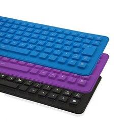 85 Key USB Mini elastyczna silikonowa składana klawiatura przewodowa do komputera Notebook US składana przenośna przewodowa angielska klawiatura