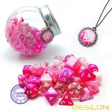 Bescon многогранные ролевые Игральные Кости полный 35 шт набор цветов, DND ролевые игры игральные кости 5X7 шт