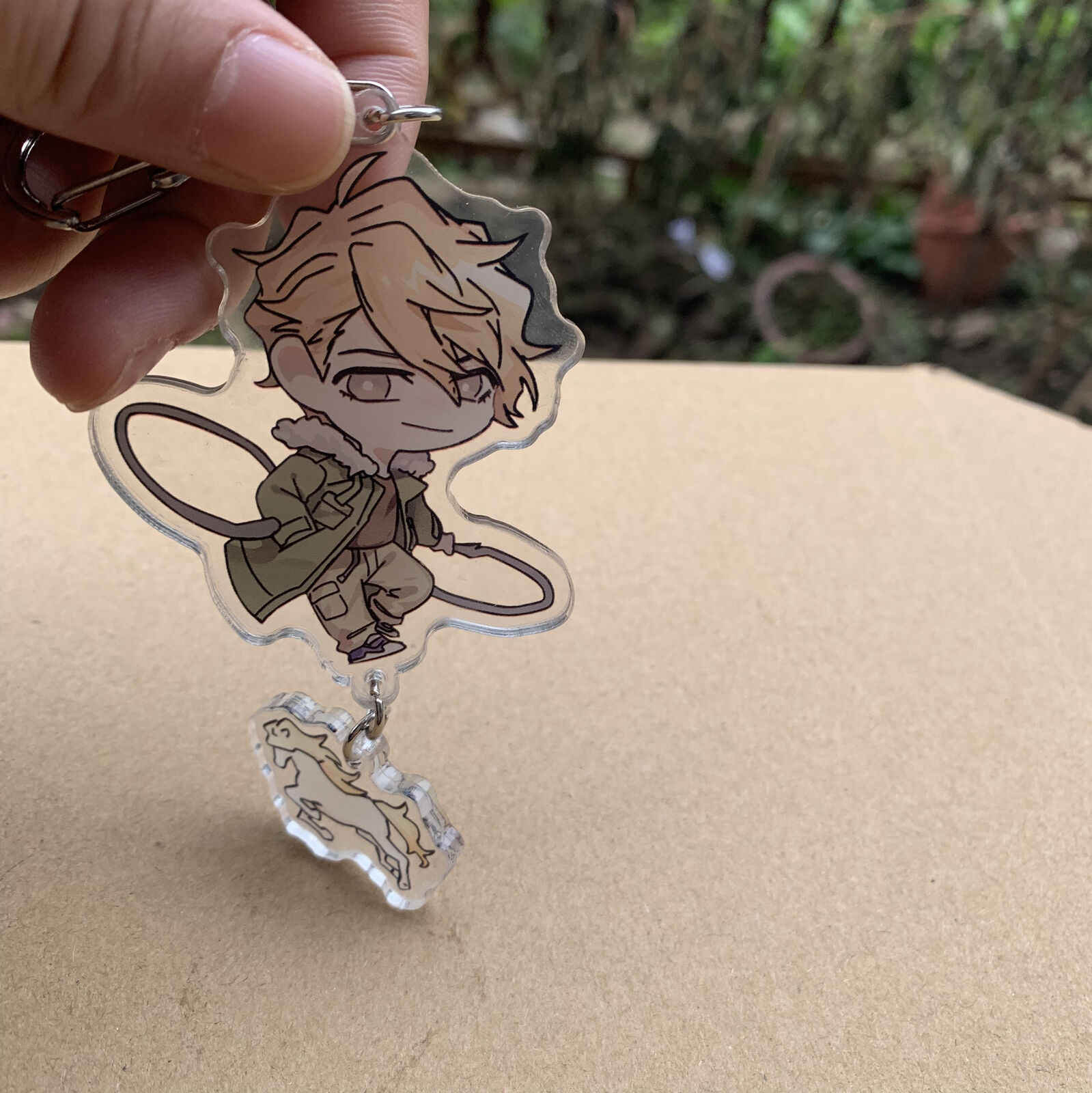 Anime Hitman Reborn Hibari Kyoya Dino Cavallone akrilik anahtarlık anahtarlık sevimli
