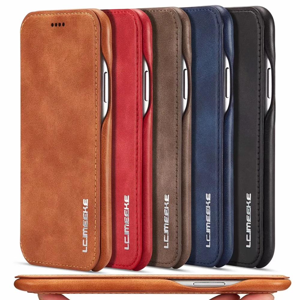 Luxury Ultra Thin Leather Flip Case Cover for iPhone 11 Pro XS Max XR 8 7 6s 6 Plus SE Folio Stand Magnetic Coque with Card Slot(China)