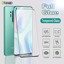 Full  Jelly Glue Curved UV Tempered Glass For OnePlus 8 7 Pro 8T Screen Protector For One Plus 7T Pro 8T Protective Film