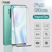Pegamento de gelatina curvo UV, vidrio templado para OnePlus 8 7 Pro, Protector de pantalla para One Plus 7T, película protectora Pro