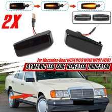 2 pièces LED Dynamique Clignotant Lampe Pour Mercedes Benz C E S SL CLASSE W201 190 W202 W124 W140 R129 Côté Fabricant Lampes témoins