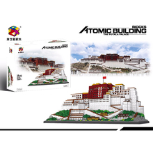 10000pcs+ Potala Palace Building Blocks China Tibet Famous Architecture Micro Mini Brick 9922 Diamond Block Toys For Children