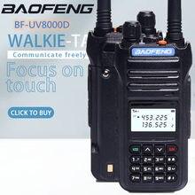 2020 baofeng original nova banda dupla uv 136-174 400-520mhz BF-8000D 10w de alta potência walkie talkie