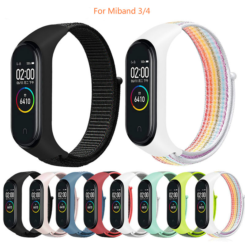 Nylon Strap For Xiaomi Mi Band 4 3 Replaceable Bracelet Mi Band4 Band3 Sports Wristband Breathable Bracelet For Xiomi Miband 3 4