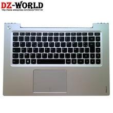 Novo/g palmrest prata caso superior francês retroiluminado teclado touchpad para lenovo ideapad u430 u430t u430p portátil c capa 90203157