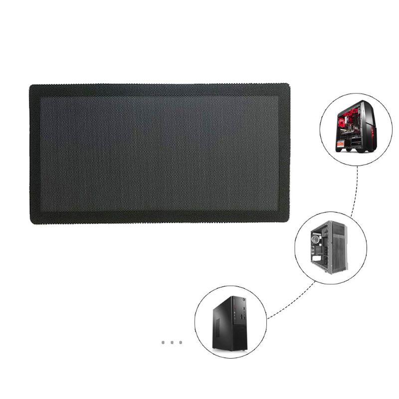 Filtre à poussière magnétique anti-poussière PVC maille filet couverture garde pour châssis maison PC coque d'ordinateur ventilateur de refroidissement accessoires 12x24CM