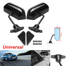 2PCS Universal F1 Style Rear View Racing Car Side Mirror Convex Glass Cafe Retro