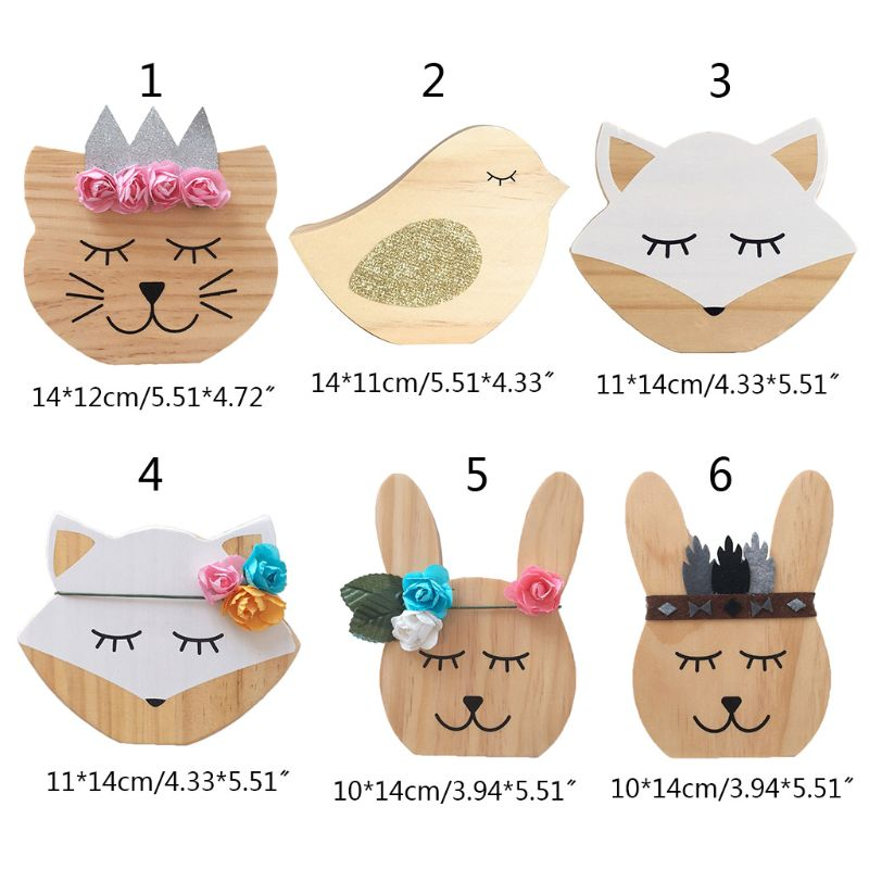 Nursery Decoration Wooden Animals Ornament For Children Room Photography Props Gifts For Holiday, Birthday, Children's Day